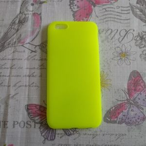 Neon Yellow Silicone phone case for Apple 6/6S